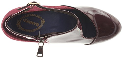 Rojo Banned vestir de Zapatos mujer rojo de Material Sintético oscuro para 8w8UP