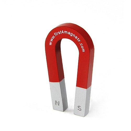 First4magnets Traditional Alnico Horseshoe Magnet   1Kg Pull  75X39x8mm  By First4magnetstm