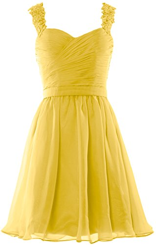 MACloth Women Lace Straps Chiffon Short Prom Homecoming Dress Formal party Gown Amarillo