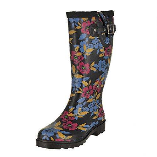 Chooka Women's Tall Rain Boot, Bohemian Night, 6 M US