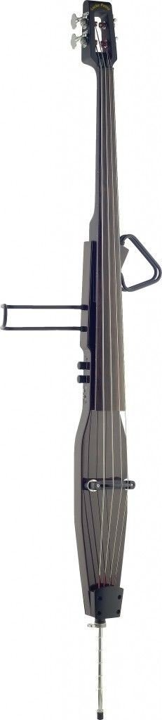 Lucky Penny EDBLX-DBR Brown Deluxe 3/4 Electric Upright Double Bass with Gig Bag