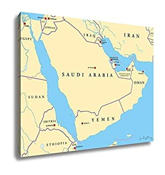 Amazon.com: Ashley Canvas Arabian Peninsula Political Map ...