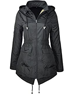 6f2d84b45a8fc MISSY New Plain Jacket Plus Size RAIN MAC Ladies Parka Womens Festival Raincoat  Size 8-