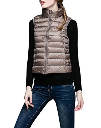 大きい荒れ地腐敗YueLian ダウンベスト ベスト 袖なし ジャケット ダウン 羽織 レディース アウター 暖かい 防寒