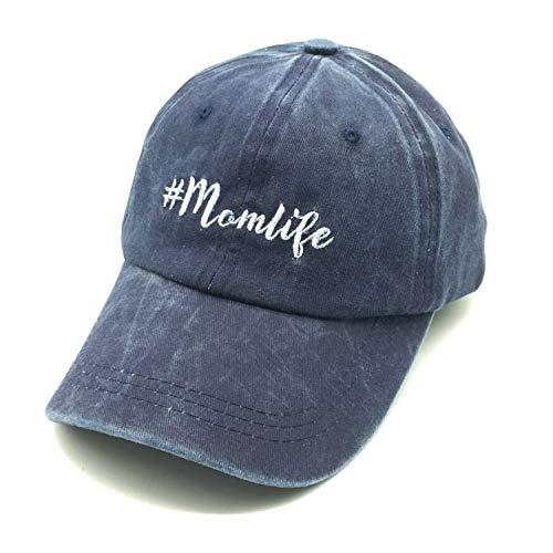 009f6186c477f Waldeal Embroidered Unstructured Mom Life Vintage Jeans Adjustable Ballcap  Cotton Denim Dad Hat Gift for Mom