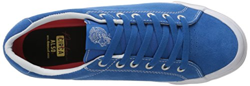 C1RCA Men's AL50R Adrian Lopez Durable Cushion Sole Skate Skateboarding Shoe, Royal/White, 8 M US