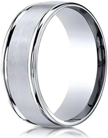 Men's Designer 6mm Comfort Fit 950 Palladium Wedding Ring with Satin Finish
