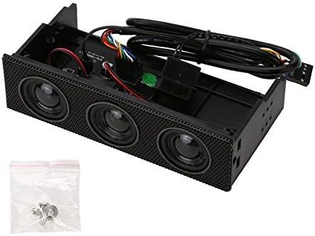 Stereo Speaker PC Front Panel Computer Case Built-in Mic Music Loud speaker  space saving Front panel speaker for desktop