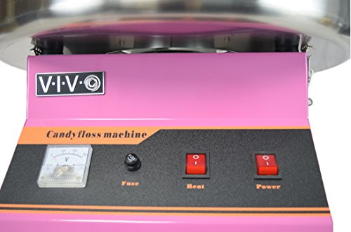 Electric Commercial Cotton Candy Machine / Candy Floss Maker Pink VIVO (CANDY-V001) by VIVO (Image #4)