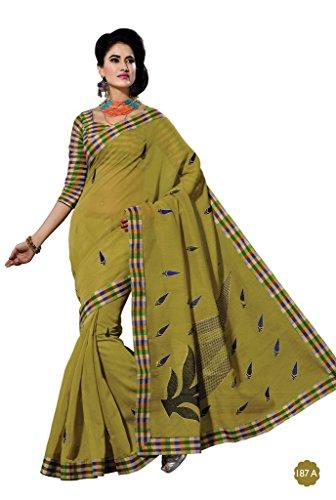 Jaanvi-Fashion-Designer-Green-Embroidered-Cotton-Saree