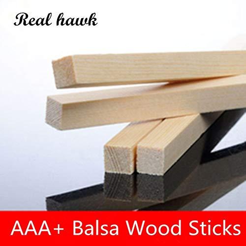 Best Quality - Parts & Accessories - 300mm Long 2x3/2x4/2x5/2x6/2x8/2x10/2x12/2x15/2x20mm Balsa Wood Sticks Strips Model Balsa Wood for DIY Airplane Model - by Wood Shelf - 1 PCs (12 6 Uniforms 1 Toy Model)