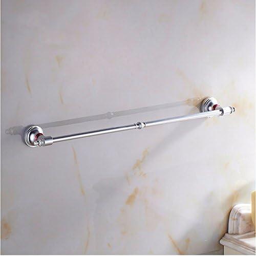 50%OFF KHSKX Bathroom Towel rack bathroom towel bars single bar color bath towel bar space aluminum