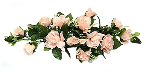 Rose Swags MANY COLORS Silk Wedding Flowers Chuppah Arch Gazebo Centerpiece
