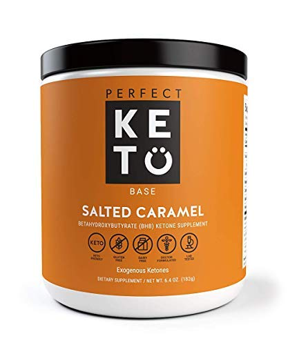(Perfect Keto Exogenous Ketones: Base BHB Salts Supplement. Ketones for Ketogenic Diet Best to Support Weight Management & Energy, Focus and Ketosis Beta-Hydroxybutyrate BHB Salt (Salted Caramel))