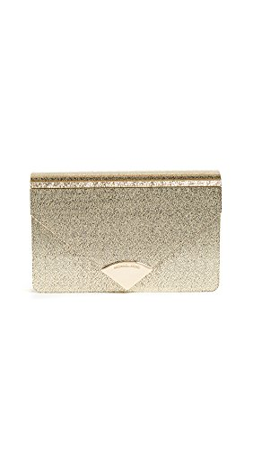 MICHAEL Michael Kors Women's Barbara Metallic Envelope Clutch, Gold, One Size by MICHAEL Michael Kors
