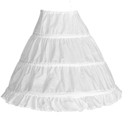 Edress Flower Girl Slip, Girls' 3 Hoops Petticoat for a-line Dress Small