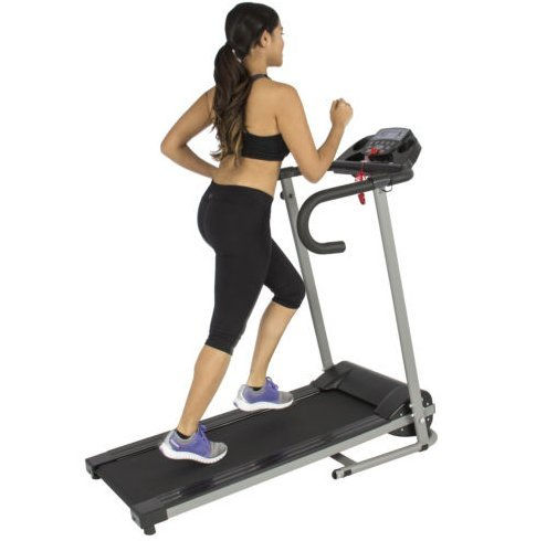 Queensbargainstore on marketplace for Best choice products black 500w portable folding electric motorized treadmill