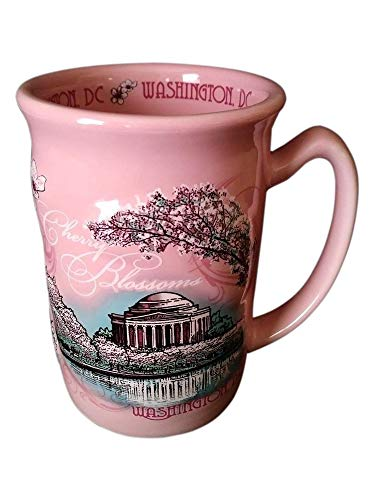 (Washington DC City Souvenir Cherry Blossoms 15oz Coffee Mug)