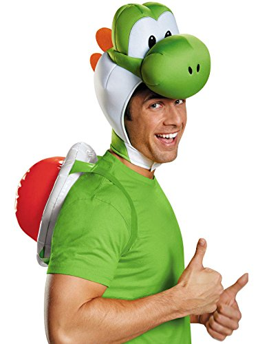 Mario Halloween Costume Women (Disguise Men's Yoshi Costume Accessory Kit - Adult, Green, One)