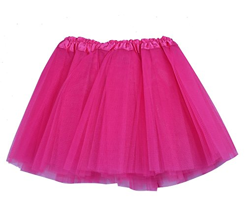 [SUNNYTREE Rose Ballet Skirt Dance Costume Tutu for Girls Party Skirts Rose] (Neon Party Outfits)