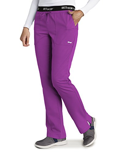 Grey's Anatomy Active 4275 Drawstring Scrub Pant Very Berry XS Petite by Barco