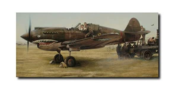 Shark Sighting By John Shaw DISPLAY EDITION Flying Tigers AVG Aviation Print