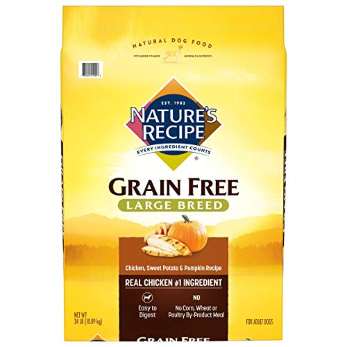 Nature's Recipe Grain Free Large Breed Dry Dog Food, Chicken, Sweet Potato & Pumpkin Recipe
