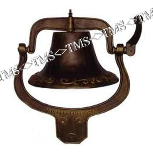Black Large Country Bell (Large Cast Iron Farmhouse Dinner)