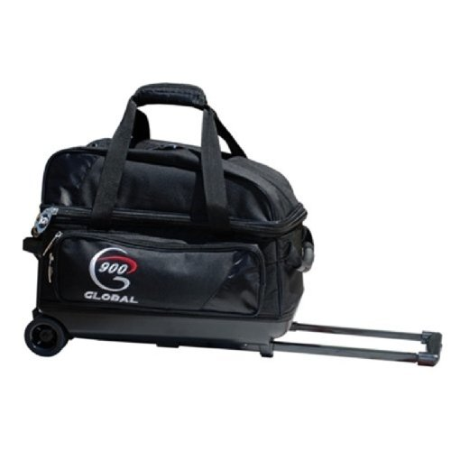 900 Global 2-Ball Value Roller Bowling Bag, Black/Black by 900 Global