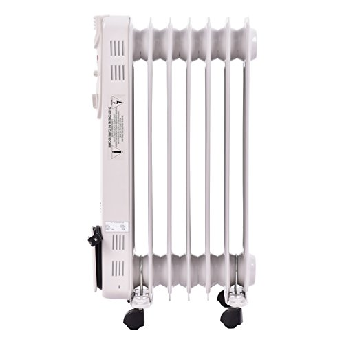 ac2ff947cea 1500W Electric Oil Filled Radiator Space Heater 5-Fin Thermostat Room  Radiant US Ship