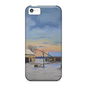 Zheng caseWaterdrop Snap-on Farm House In The Snow Case For Iphone 5c