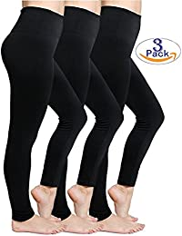 Fleece Women Leggings For Winter Super Soft High Waist Stretchy Tights Yoga Pants - One Size