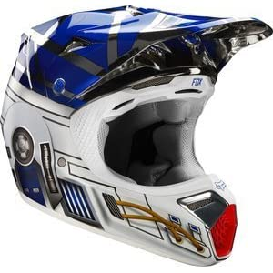 Fox V1 R2D2 Limited Edition Youth Helmet, Distinct Name: R2D2, Gender: Boys, Helmet Category: Offroad, Helmet Type: Offroad Helmets, Primary Color: Blue, Size: Sm, Size Segment: Youth, 17694-010-S 41kdCWiexTL