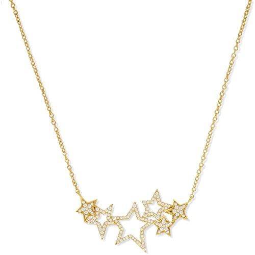SF Bijoux - Collier plaqué or OZ étoiles (40+5 cm) - (301815-45)