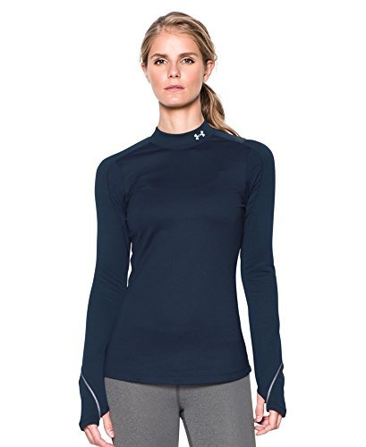 Under Armour Women's ColdGear Armour Elements Mock, Midnight Navy, XL-R