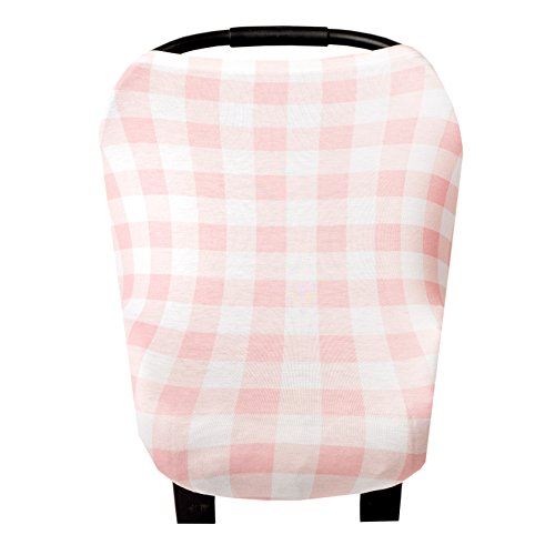 Baby Car Seat Cover Canopy and Nursing Cover Multi-Use Stretchy 5 in 1 Gift London by Copper Pearl