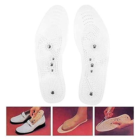 Solette per massaggio ai piedi Massaggiatore per piedi per assistenza sanitaria Celerhuak Solette per massaggio magnetico in silicone da 1 paio Solette anti-fatica 36-39