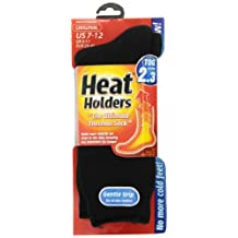 Heat Holders Thermal Socks, Men's Original, US Shoe Size 7-12, Black