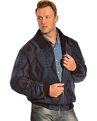 Powder River Outfitters Men's Aztec Wool Bomber Jacket Na...