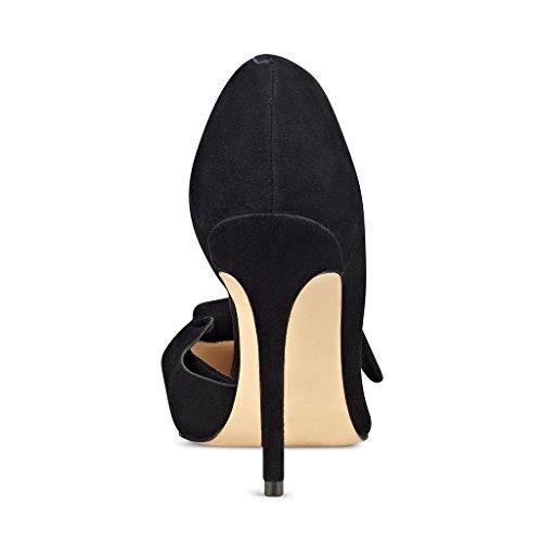 Teräväkärkiset D'orsay 4 Bowknot Naiset Mekko Fsj 15 Meille Koko Kengät Tyylikäs Pumput Musta Toe Mokka Korkokengät IftFTqw