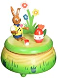 MusicBox Kingdom Rabbit with Easter Egg Decorative Box