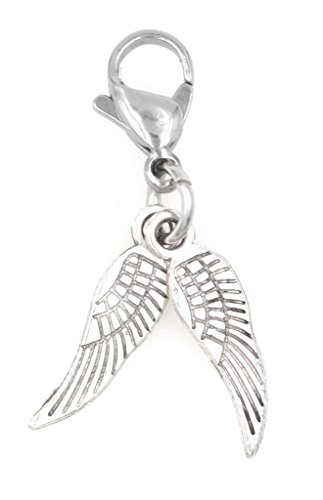 It's All About...You! Double Mini Angel Wings Clip on Charm Perfect for Necklaces Bracelets 98X