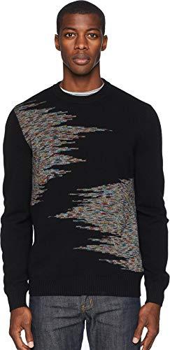(Missoni Men's Arty Jacquard Crew Neck Sweater Black 50)