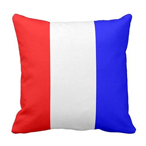 Nautical Flag Signal Letter T Tango pillow case 16*16 (Nautical Flag Pillows)