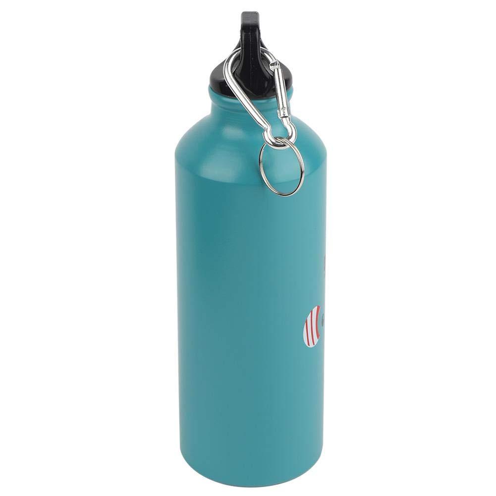 Wifehelper Botella de Agua Deportiva port/átil Jarra de Agua sin BPA con Tapa a Prueba de Fugas y a Prueba de Polvo 16.9oz Elefante Azul 500ml
