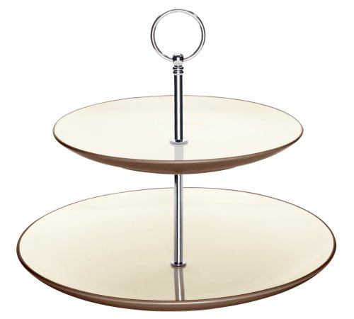 Noritake Colorwave Chocolate Two Tier Hostess Tray