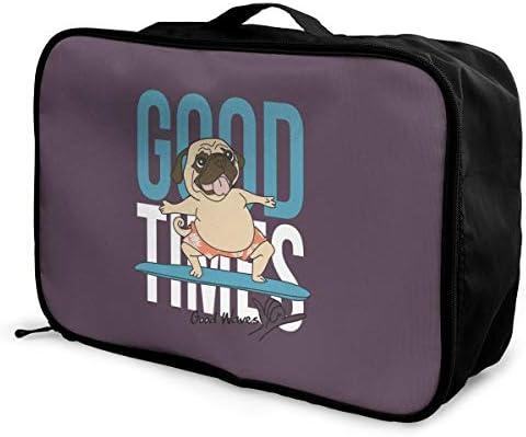 アレンジケース かわいい 犬 サーフボード 旅行用トロリーバッグ 旅行用サブバッグ 軽量 ポータブル荷物バッグ 衣類収納ケース キャリーオンバッグ 旅行圧縮バッグ キャリーケース 固定 出張パッキング 大容量 トラベルバッグ ボストンバッグ