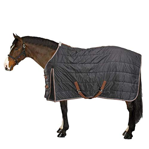 Horse Blanket Turnout Rug Combo Full Neck 200D Fill Winter Waterproof Fixed Combo Unisex for Equestrian Pony Horse Riding,Dark - Horse Rug Medium Turnout