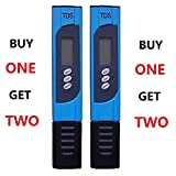 Realgoal TDS-3Blue Water Quality TDS Tester Handheld Portable Pen ATC Meter 0-9990 ppm Range 1 ppm Resolution +/- 2% Accuracy for Testing Hydroponics Gardening Aquariums Reefs Pools Spas Water Treatment Drinking Pure Filter system
