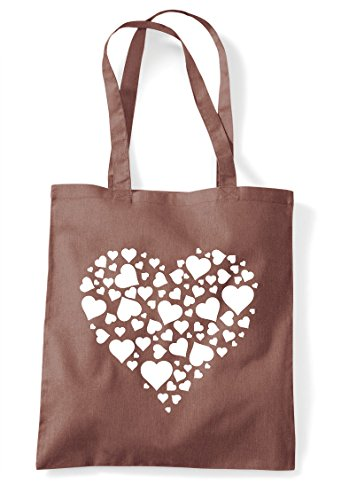 Tote Hearts Bag Shopper Design Chestnut Heart Of CqwAtvv